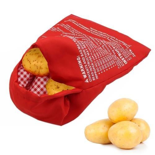 Saco Bolsa Assar Batata no Microondas Reutilizável Bag Potato