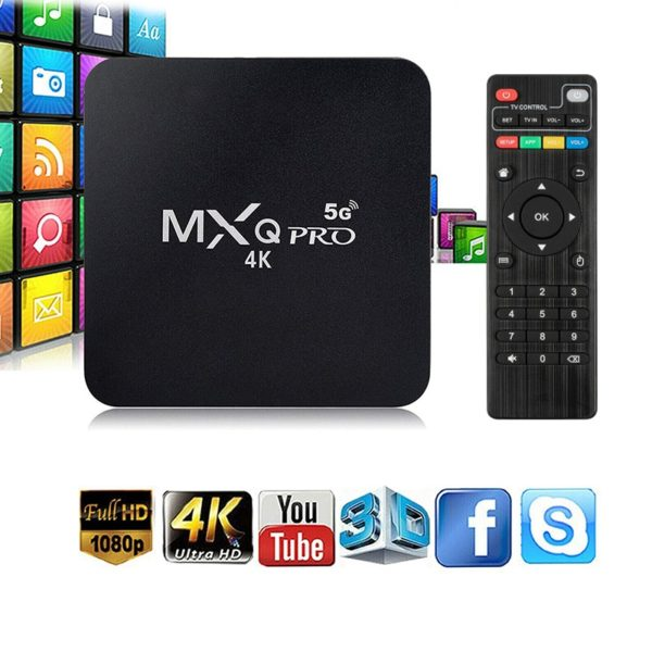 TV Box MXQ PRO 4K - 5G - 8GB/128GB - Transforma Sua TV em SMART
