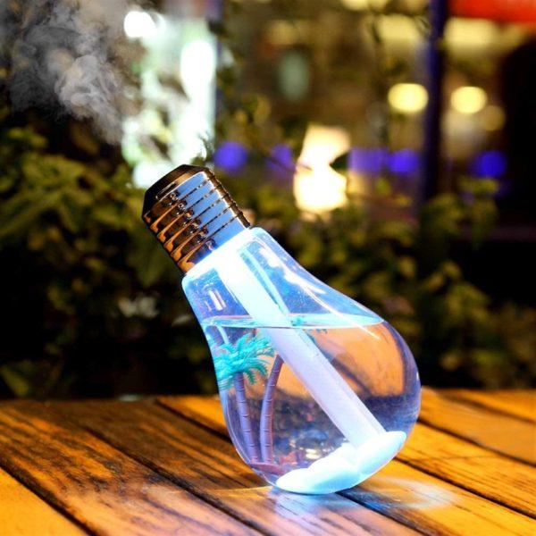 Umidificador e Aromatizador de Ar Luminária em Formato de Lampada
