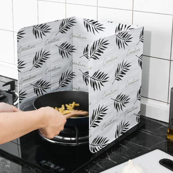 Placa Defletor de Óleo de Cozinha Resistente ao Calor Placa de Isolamento